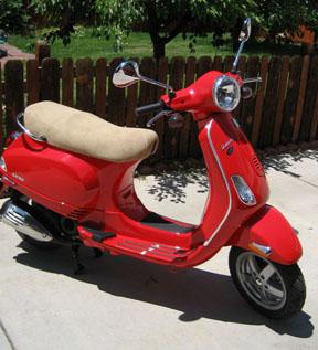 My 2008 Vespa LX50, Che.