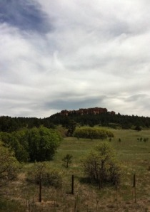 Elephant Rock, as seen from the bike trail near Palmer Lake.
