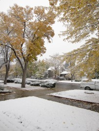 First real snow of 2011-12