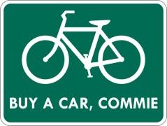 No-bike route
