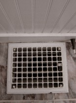 The bathroom grate