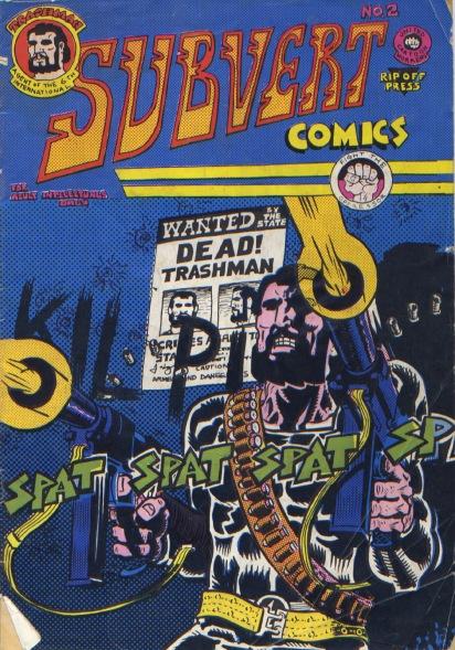 Trashman stars in Subvert Comics