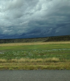 The scene outside the passenger window near Wagon Mound, N.M.