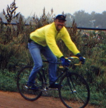 Your Humble Narrator on the job during a rare soft day at the Bear Creek Cyclo-cross. As you can see, I am a veritable blur of activity.