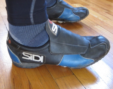 Sidi cyclo-cross shoes.