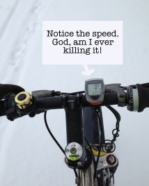 I was my usual awesome self on a short ride in the snow this afternoon.