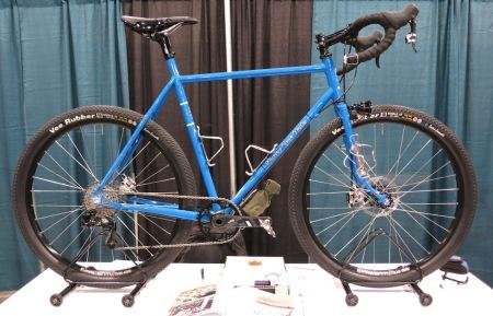Kevin Harvey's blue wheeler.