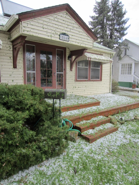 Hail at the old home place