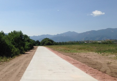The Templeton Gap Trail has a fine new concrete surface east of Goose Gossage Park.