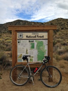 The bike stops here: Just east of Rancho Pendejo sits the Cibola wilderness.