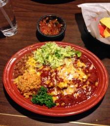 Enchiladas de Herrera from El Bruno's on Fourth.