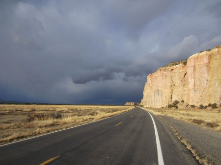 Out near El Malpais National Monument on a shoot for the Adventure Cycling Association.
