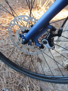 The TRP Spyre mechanical disc brake.