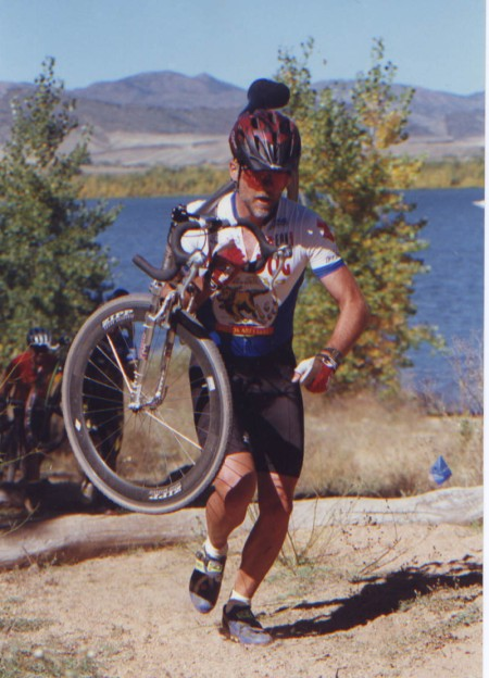 The Dog rocking a Voodoo Loa with Zipp wheels and a Marzocchi suspension fork at Chatfield Reservoir, waaaaaay back in the day.