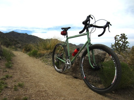 The Elephant Bikes National Forest Explorer, on Trail 365A, slightly southeast and decidedly upward from El Rancho Pendejo.