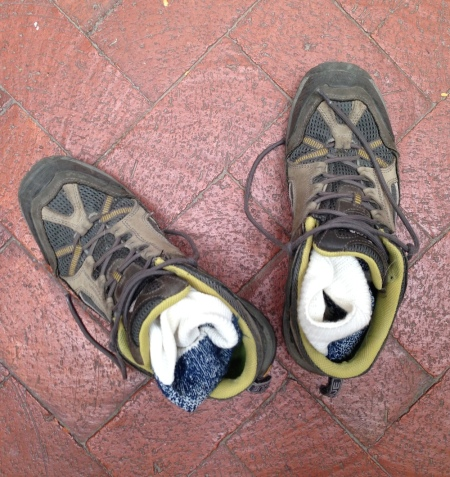 The low-rise Vasque hikers that I use for running.