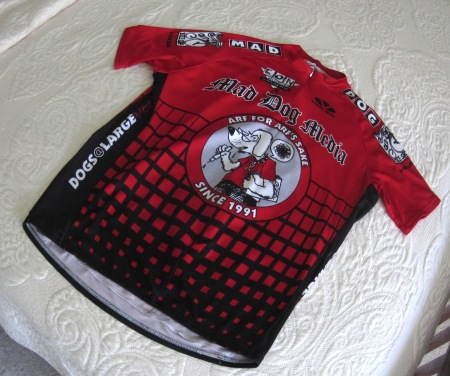 The coveted red leader's jersey.