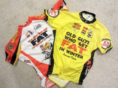 The new, bigger-and-better-than-ever (but mostly bigger) Old Guys Who Get Fat In Winter jerseys, available now at Voler.