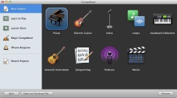 "GarageBand '11, v6.0.5, had a dedicated ""Podcast"" option. The ""improved"" version, not so much."