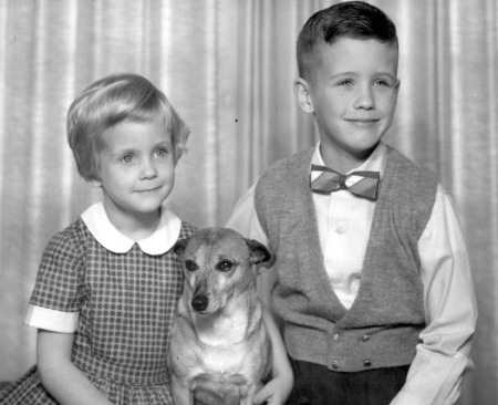 Peggy, Sandy and me, circa 1960, in Ottawa, Quebec, Canada.