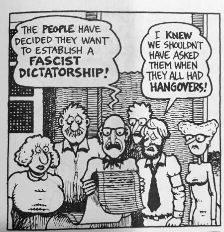 The people like fascism. Go figure.