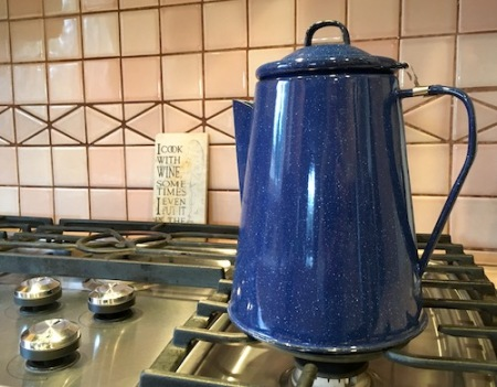 Ol' Blue, the camp coffeepot