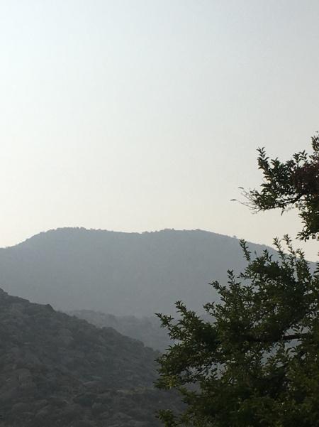 Smoke along the Sandias